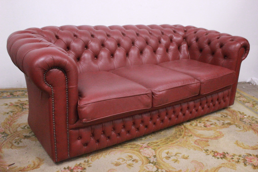 Divano Chesterfield 3 Posti.Divano Chesterfield Club 3 Posti Rosa Scuro 497 Divani
