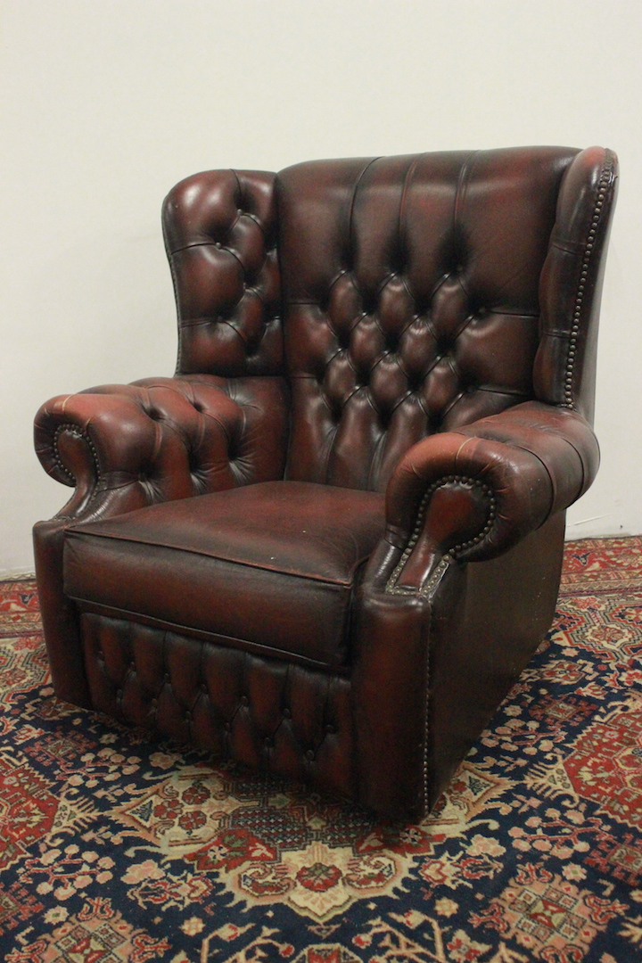 Poltrone Bergere In Pelle.Splendida Poltrona Bergere Chesterfield Chester Pelle Marrone